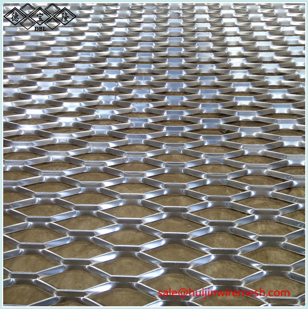 aluminum expanded metal mesh building facade decorative