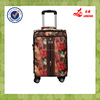2014 PU leather wheeled travel trolley luggage