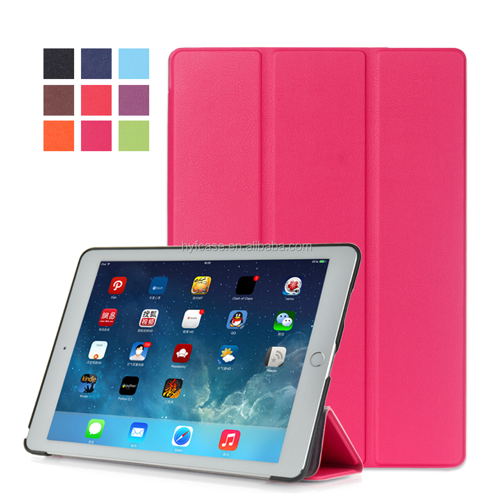 ultra- light & slim tablet leather case for ipad pro 12.9 with wake up /sleep function , for ipad pro 12.9 case leather