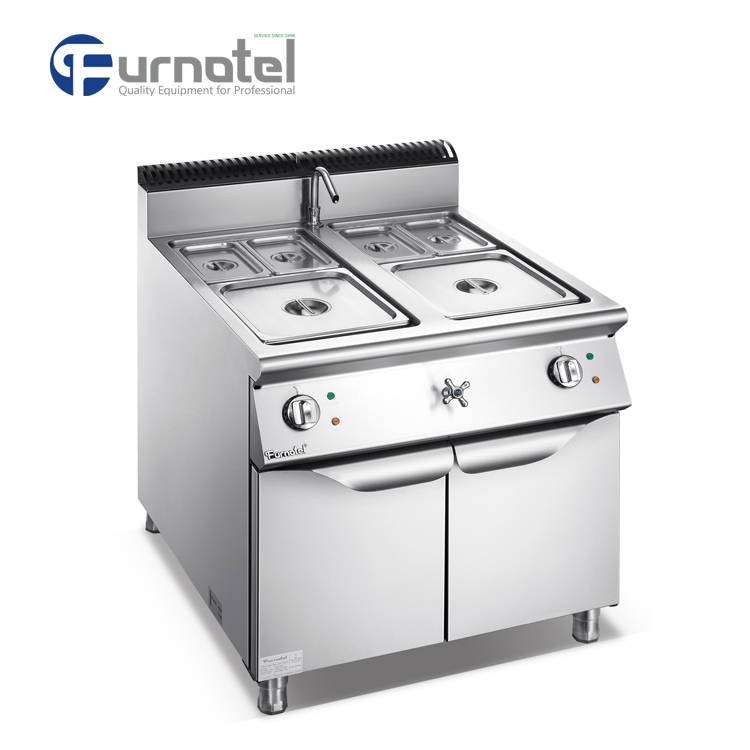 F9080EBM Commercial Stainless Steel Electric Bain Marie With Cabinet
