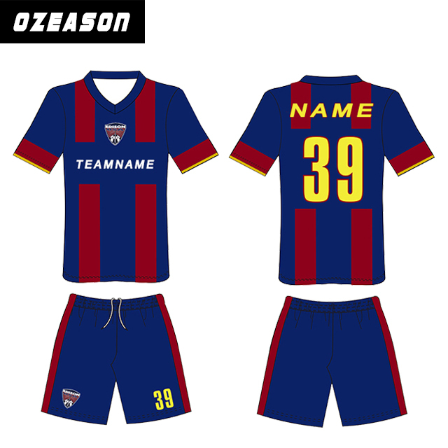 Newest Blue Color Custom Soccer Uniform For Kids