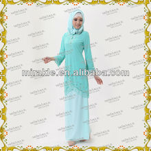 MF20862 Beaded Muslim baju kurung jubah collections