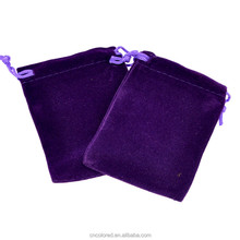 custom velvet drawstring jewellery pouch bag