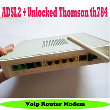 Thomson tg784 adsl modem cats with voip wireless wifi router