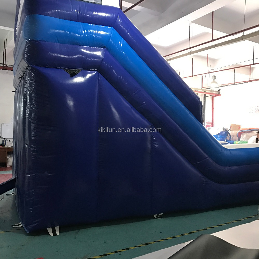 hot sale cute blue inflatable water slide giant for kids and adultes water park