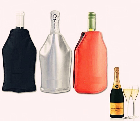 Ice Wine Bottle Cooler Sleeve / Individual Gel Ice Cooler/ Champagne Gel Cooler Ice Bags
