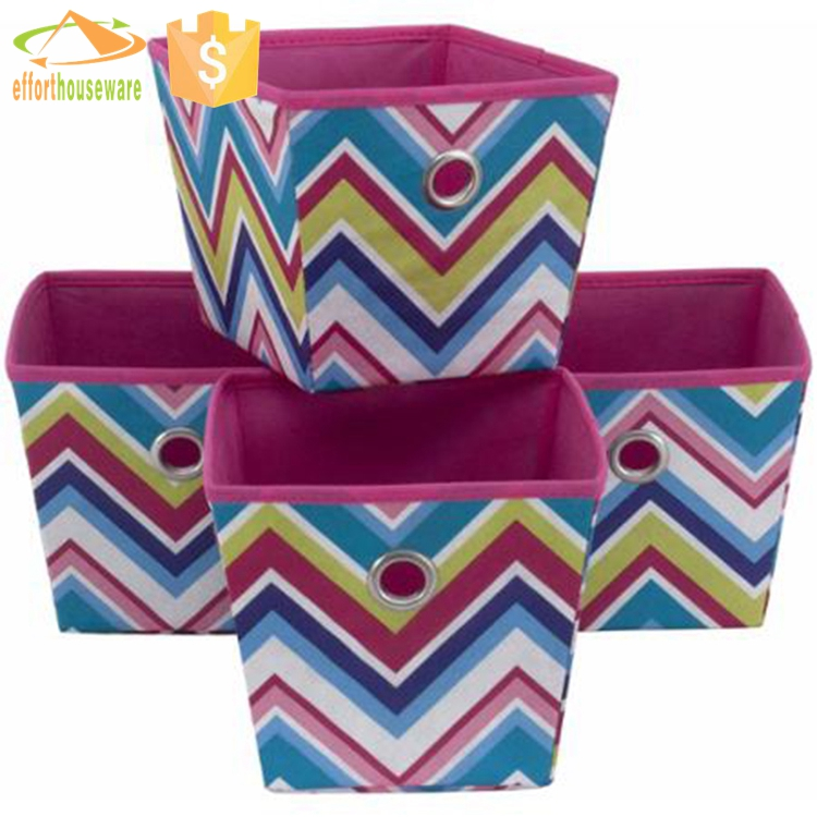 Wholesale collapsible organizer fabric canvas storage bins