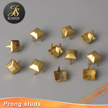 Flat pyramid Stud in Antique Copper with 4 Prongs for Leather Craft/Clothing
