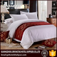 100% Cotton Hotel Jacquard Stripes Bed Quilt Cover Set