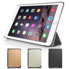 Gold Tri-Fold Slim Smart Magnetic Flip PU Leather Case for Apple iPad 6