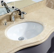 SN013 undermount CUPC oval ceramic basin bathroom countertops with built in sinks