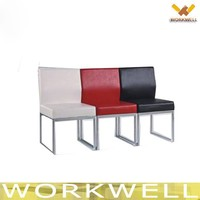 WorkWell hot sale chromed frame office chair dining chair Kw-T14