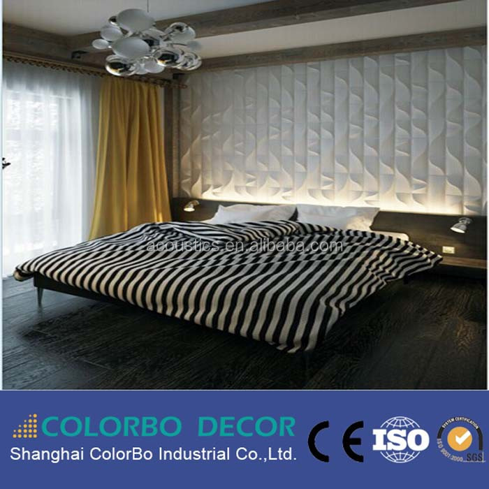 3d Mdf Fireproof Board Decorative Wall Panels For Hotel