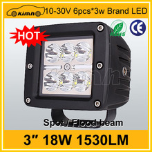 "Fast delivery offroad vehicles 4"" square 12v 18w motorcycle led light"