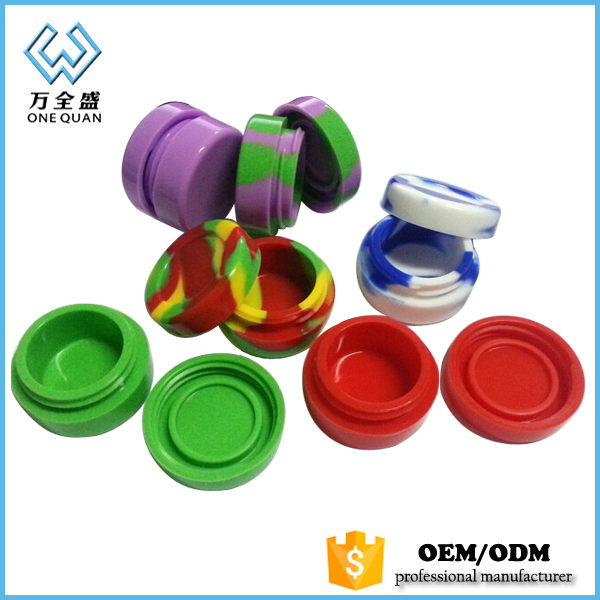 silicone jars dab customized bho wax oil container