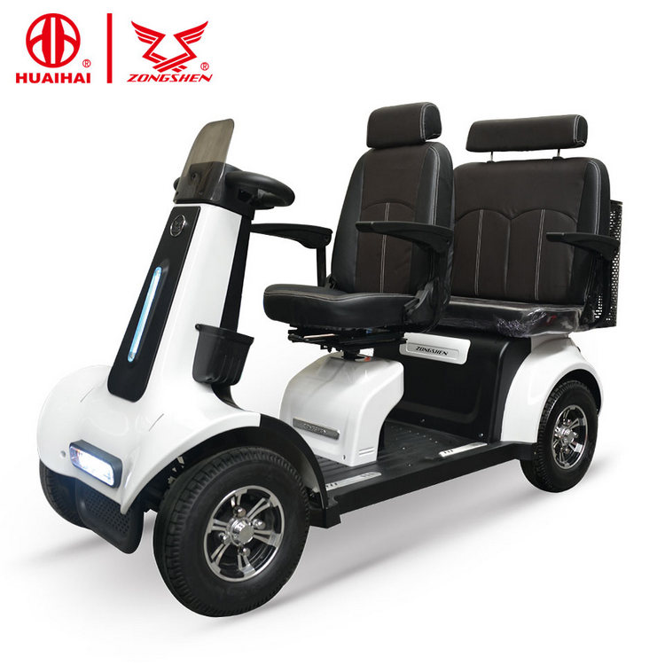 four wheel electric bike bicycle mobility scooter 4 wheel 2 seat for the elderly and disabled