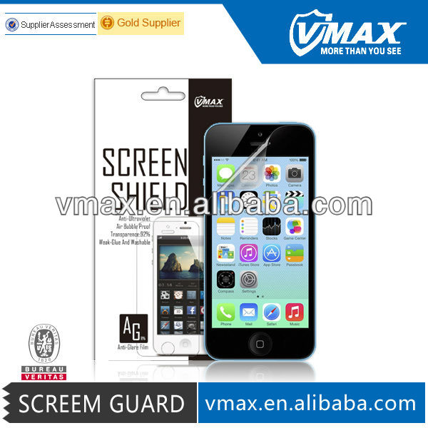 Vmax Factory Price screen protector for iPhone 5c,iPhone 5c screen gurad With Package oem/odm (High Clear)