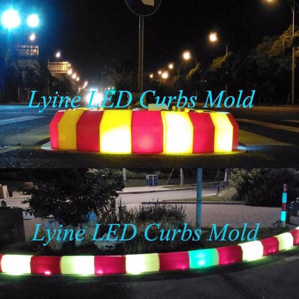 wholesale stable shape plastic driveway led light curb waterproof