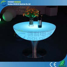 GLACS led music dancing furniture hot sale PE waterproof control RGB color led light table