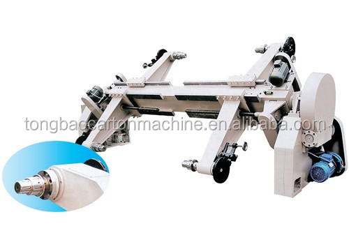 Corrugated base paper shaftless mill roll stand hydraulic & electric