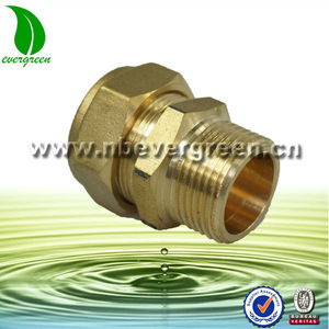 Brass half union fitting