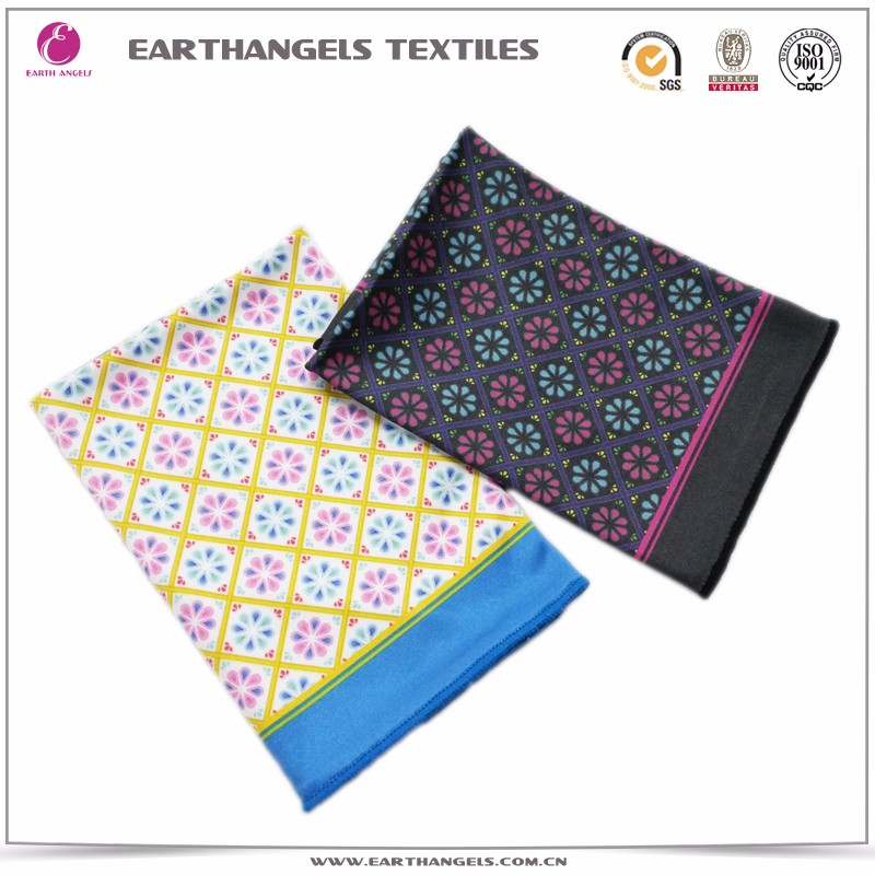 custom logo printing microfiber kerchief cleaning cloth