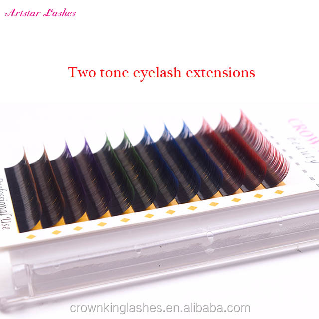 March expo supplier, two tone eyelash extensions