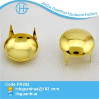 Fancy colored prong gold dome stud