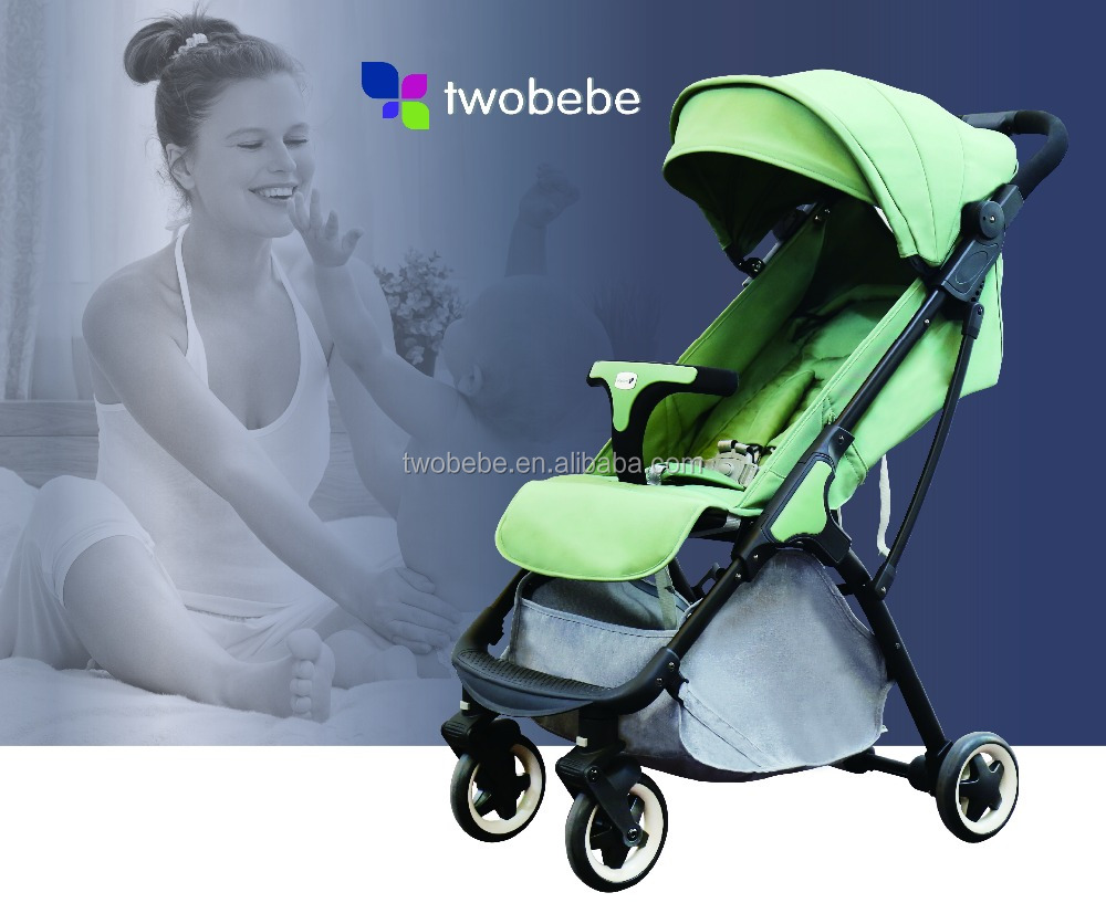 Black Frame Waterproof Oxford Laminated Finishing Canopy Anodizing Tube Stroller Newborns Carrier