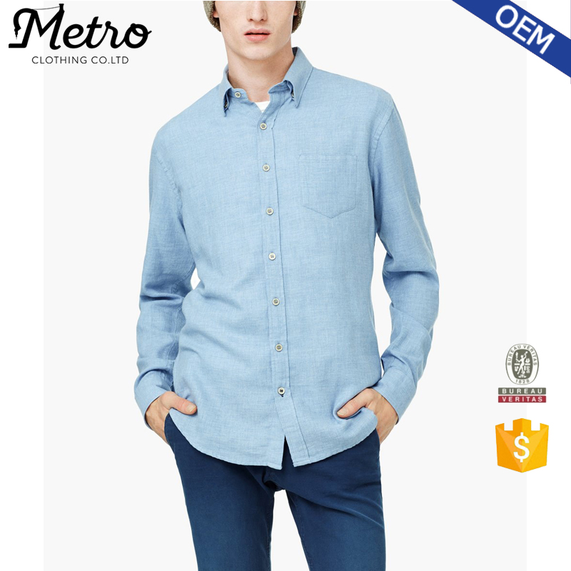 Branded Quality Popular Mens Indigo Denim Shirts