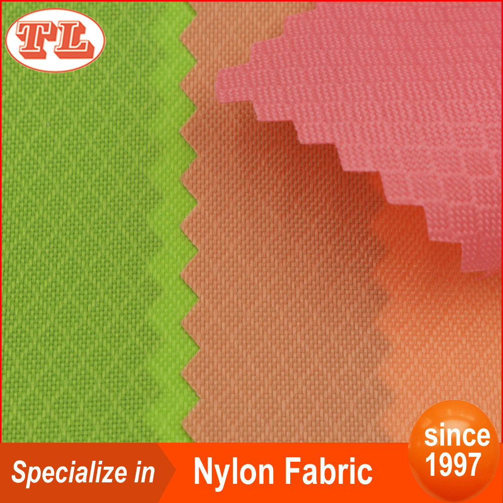 210D small prismatic pattern grid nylon fabric with PU coated cover for beach chair parachute