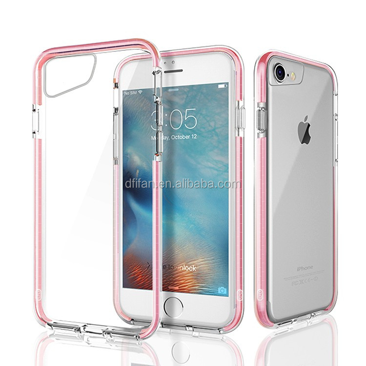 DFIFAN For iphone 7 / 6 universal bumper tpu+tpe shockproof case ,For iphone 6 thick protect transparent cover case