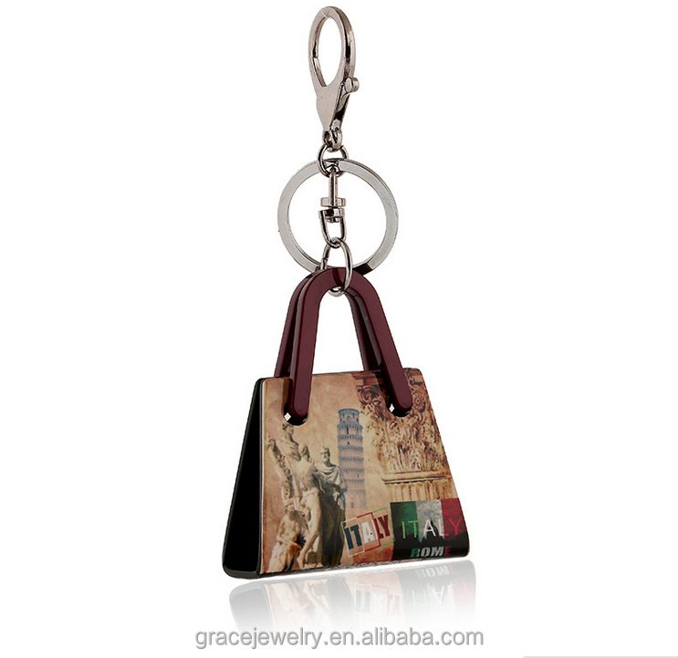 fashion and beautiful italy street scenery cheap key chain