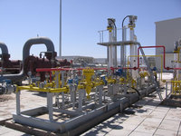 natural gas pressure regulating and metering station