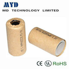 paper cover 1.2v 2100mah sub c nicd rechargeable battery
