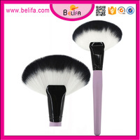Belifa professional large fan brush loose soft synthetic hair cosmetic makeup brush