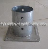 galvanized round iron pole plate for ground anchors used in garden