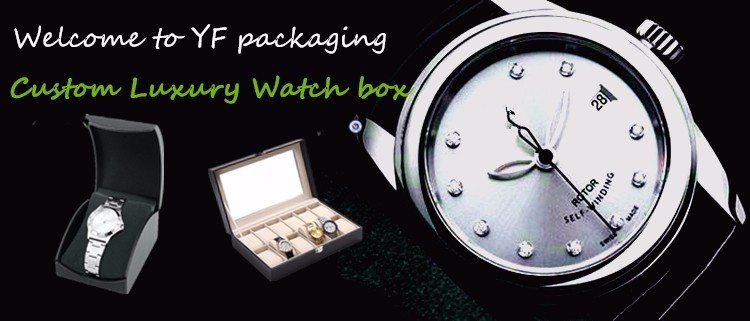 Custom luxury fashion square cardboard gift box packaging watch