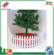25pcs White Plastic Christmas tree skirts fence decoration