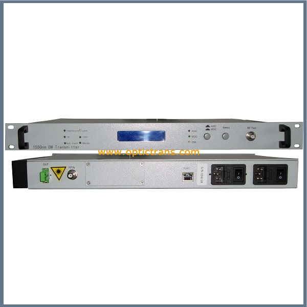 Top-class with AGC 1550nm CATV optical transmitter (OPT-1550I-T)