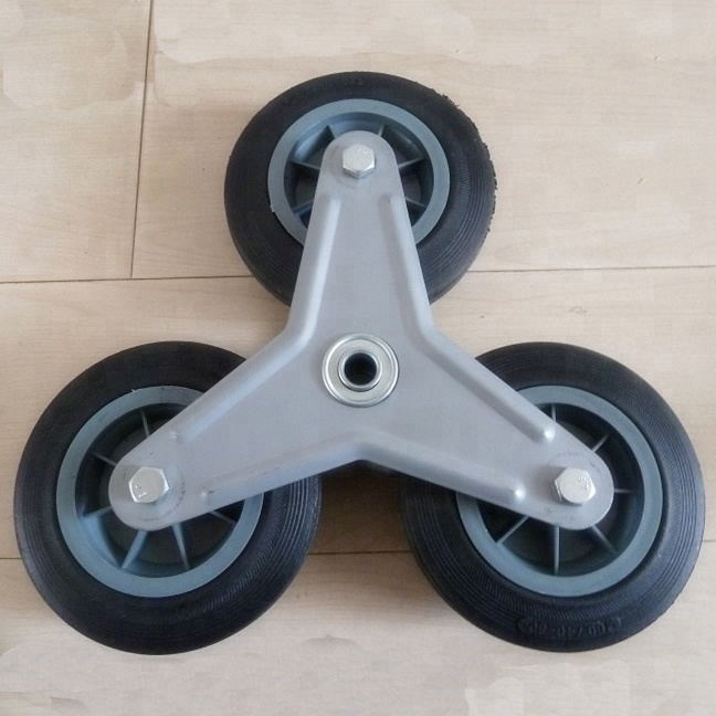 6 inches 3 in 1 stair climbing solid rubber <strong>wheel</strong> for trolley