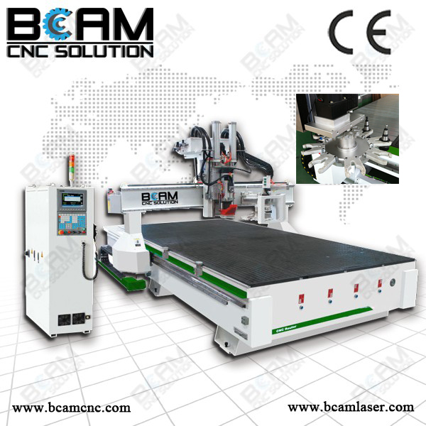 8 knives ATC CNC router, Automatic Tools Changing CNC router, Wood working machine