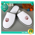 Dense Velvet Hotel Slippers / Custom Handmade Soft Velour Room Slippers / Hot Sale Thick Smelless EVA Sole Bathroom Slippers