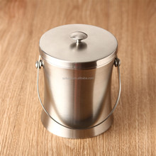 Stainless Steel Double Wall Wine Bottle Cooler Champagne Barrel Ice Bucket Drink Beer Chillers Bar Wine Tools