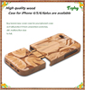 Factory customized various mobile phone wooden custom back cover case for iphone 5