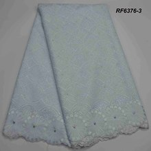 Wholesale swiss cotton voile lace for sale fabric with rhine stones new products 2018 purple
