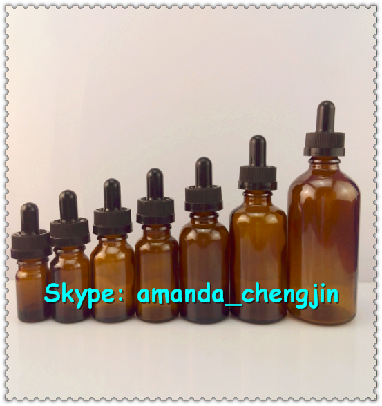 glass bottle with paper box / paper tube glass dropper 30ml bottle amber glass bottle for e liquid for ejuice
