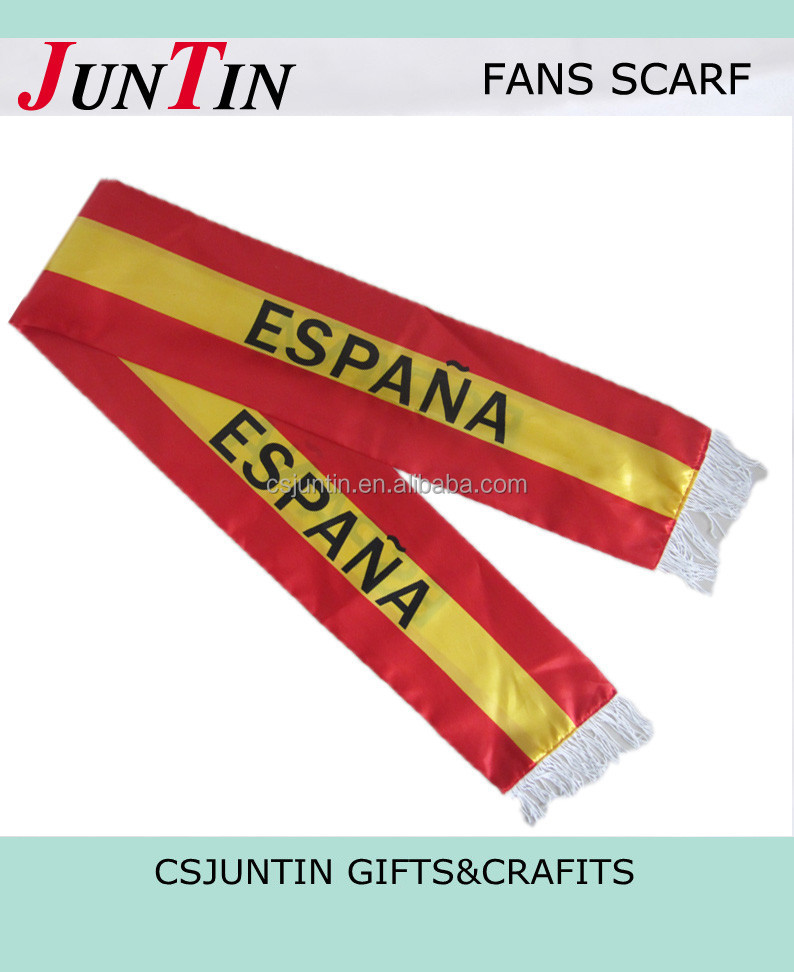 cheap printed world cup football scarf JT0204