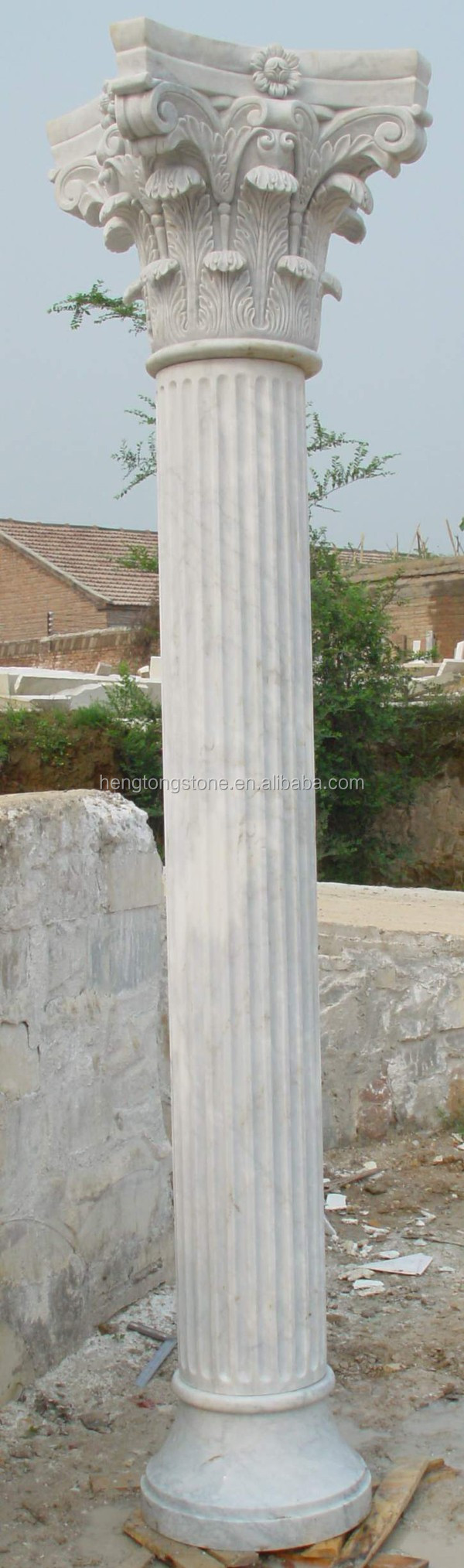 Collins Style Decorative Marble Stone House Pillar Design