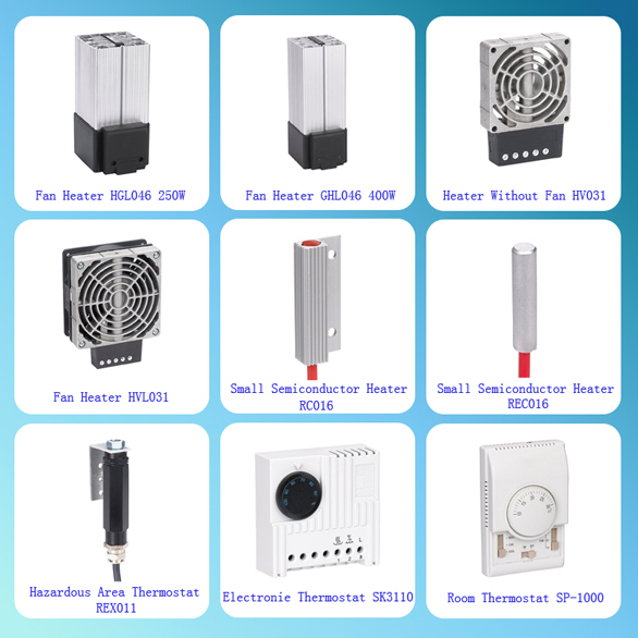 2015 Saip/Saipwell Hot Sale Space-saving Electric Fan Heater HV 031/ HVL 031 Series 100W to 400W